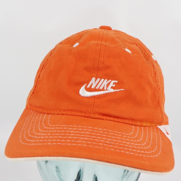 b3de728bf Nike Spell Out Swoosh Flexfit Hat Cap Orange S/M